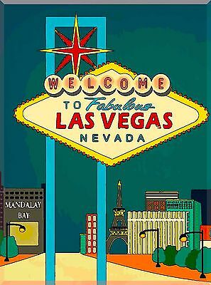 Welcome to Fabulous Las Vegas United States Travel Advertisement Art Poster