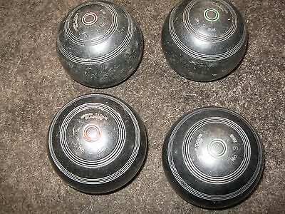 Collection Of 12 Thomas Taylor,s Lawn Bowls Size 3