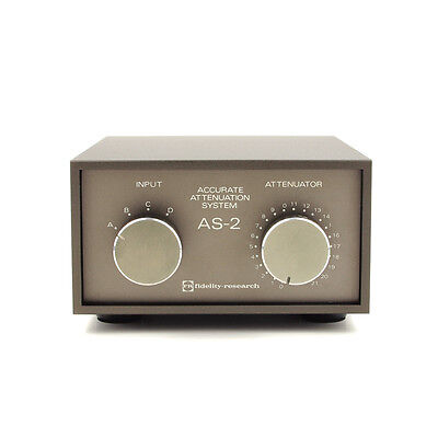 FIDELITY RESEARCH AS-2 Stereo Stepped Attenuator Passive Line Stage FR IKEDA