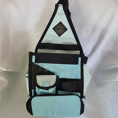 AMM All My Memories Tote-Ally Cool On-the-Go Canvas Craft Bag Light Blue Black