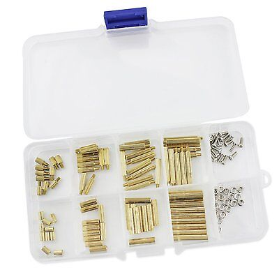 Ocr TM 120pcs M2 Brass Spacer Standoff Screw Nut Assortment Kit M2