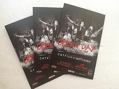 """GREEN DAY Set Of (3) 4"""" X 6"""" Rose Bowl Concert Promo Cards"""