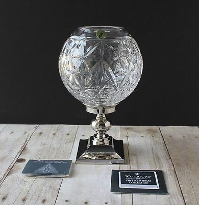Waterford Crystal Times Square 2000 Star of Hope Glass Hurricane Candle Lamp