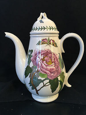 "Portmeirion Botanic Garden Shrubby Peony 10.5"" Coffee Pot w/Lid Mint Condition"