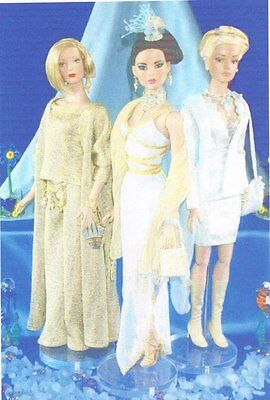 "3 different outfits sewing  Pattern fits 16"" Fashion doll Tyler Gene Tonner"