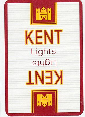 "RARE MINT ""Kent Lights Cigarettes"" SINGLE Playing Card"