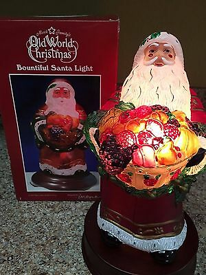 Old World Christmas Light - Bountiful Santa - 1998