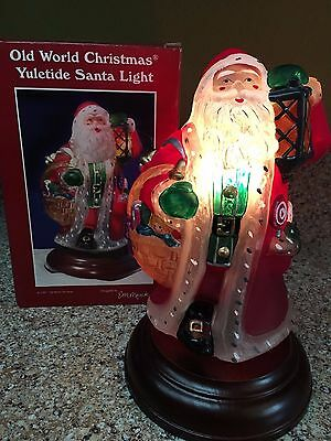Old World Christmas Light - Yuletide Santa Light - 1997