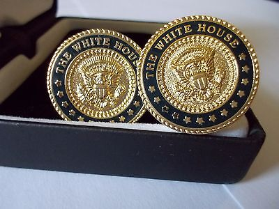 Cuff Links Presidential White House 24K Gold Plated