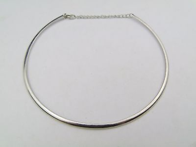 Vintage Silver White Metal Choker Style Necklace Chain