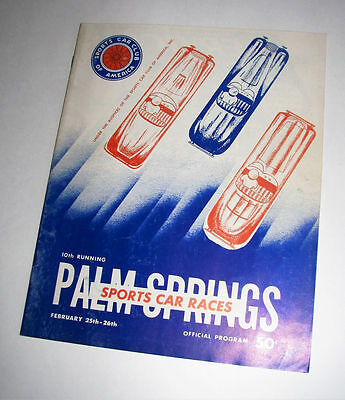 Palm Springs Sports Car Race Program~10th Running~February 25-26 1956~SCCA