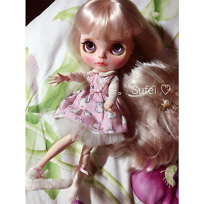 """30cm 12"""" Nude Blythe Doll 19 Joint Body + Matte Face+ Light-Gold Hair Great Gift"""
