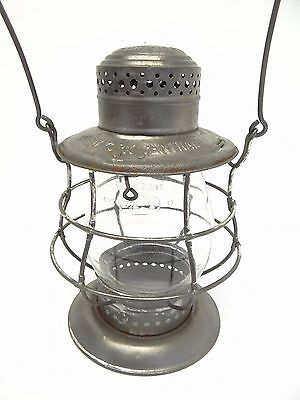 Antique Dietz No 6 New York Central Bell Bottom Train Railroad Lantern Cage Body