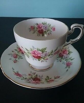 Vintage Paragon 'English Flowers' Series - Roses Fine Bone China Teacup & Saucer