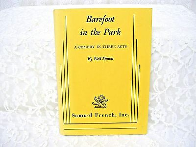 Barefoot in the Park Play Book by Neil Simon 1964 Comedy in Three Acts