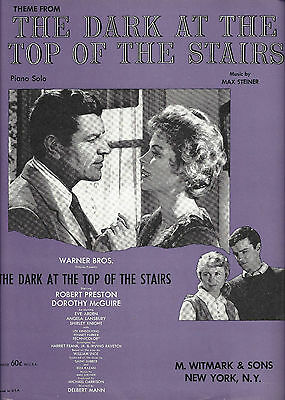 """Robert Preston """"DARK AT THE TOP OF THE STAIRS"""" Dorothy McGuire 1960 Sheet Music"""