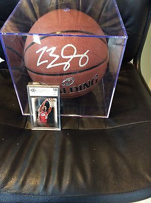 Lebron James Autographed Basketball And Upper Deck Rookie Coa