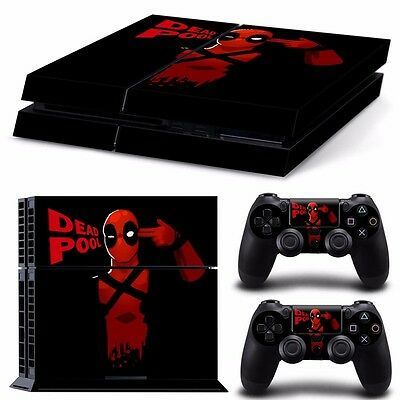 PS4 playstation console skins set   DEADPOOL MARVEL COMIC CLASSIC  AUSSIE SELLER