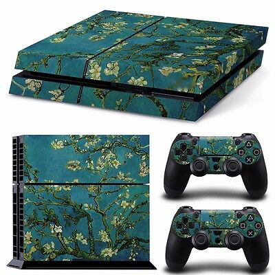 PS4 playstation console skins set  FLOWER PAINTING PRETTY      AUSSIE SELLER