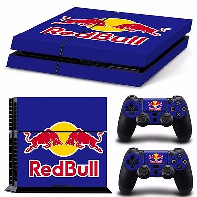 PS4 playstation console controller skin  set Red Bull racing   Aussie seller