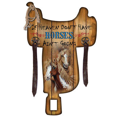 """New MDF Wall Mount Sign - """"If Heaven Don't Have Horses"""" - 9007 Wall Art Brigalow"""
