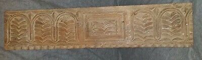 "Antique Hand Carved FARMHOUSE Wood Wooden Architectural SALVAGE Trim 34""x7 1/2"""