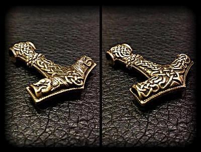 Thor Hammer Beads Bead Knife Bronze Paracord Bracelet Collectible Handmade New