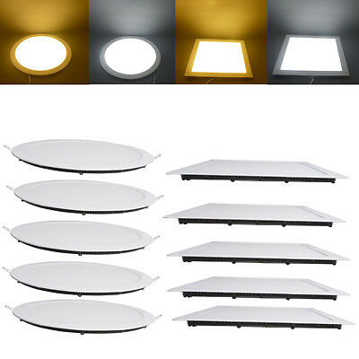 5/1x 24W 18W 15W 12W LED Recessed Ceiling Panel light Downlight Cabinet Kit S/R