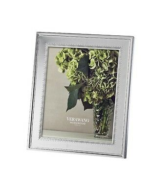 """New Vera Wang Wedgwood """"grosgrain"""" 8X10 Picture/photo Frame - Retail $100"""