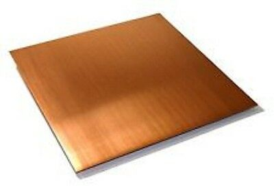 "Five 8"" x 8"" Copper Sheet Plates - 16oz - 24ga. - FREE PRIORITY SHIPPING"