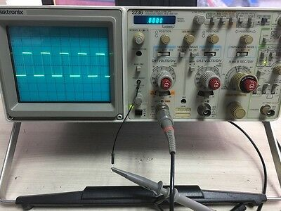 Refurbished Tektronix 2236 Dual Channel 100MHz Analog Oscilloscope with DMM