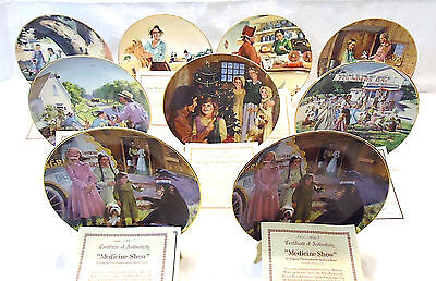 Little House on the Prairie 8 Plate Set All With COA's Plus 1 - Original Boxes