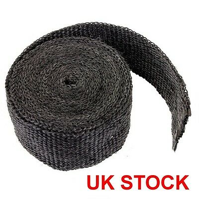 5M Black Exhaust Heat Header Wrap High Temp Manifold Front Pipe Exhaust Shields