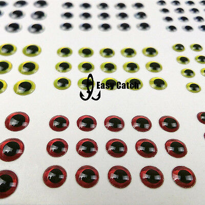 915pc 3-6mm 3D Holographic Fishing Lure Jig Eyes Fly Tying Craft Doll Waterproof