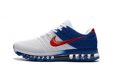 NIKE AIR MAX 2017 Men's Running Trainers Shoes Red Blue White