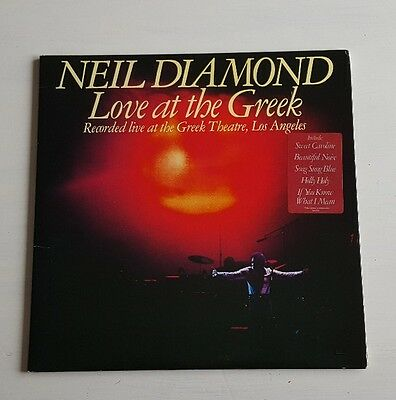"Neil Diamond Love At The Greek LP Album 12"" Vinyl  Record"