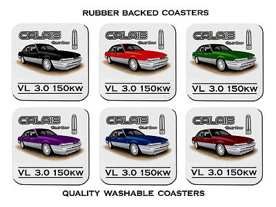 86' 88'  Holden  Vl Calais Turbo 3.0   Set Of 6  Quality Rubber Drink  Coasters