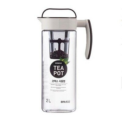KOMAX Tritan Clear Large Iced Tea Maker Tea Pot Water Bottle 2L BPA-FREE