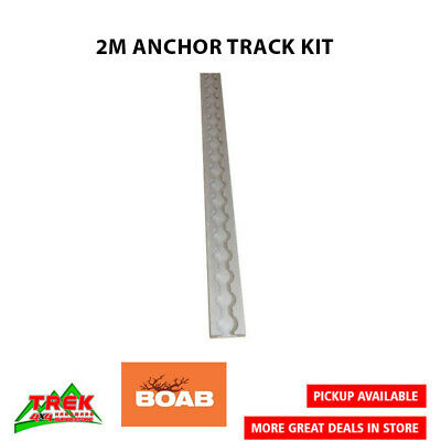 BOAB Aluminium Anchor Track 2 metre length (no mounting holes drilled) - OLTD8