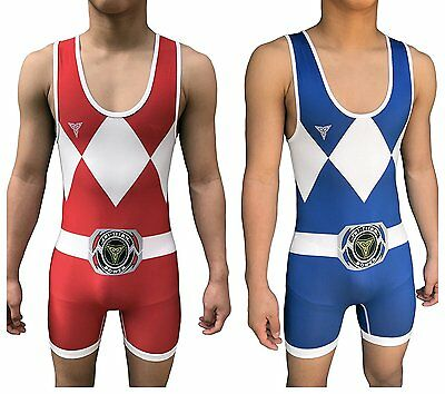Tri-Titan Power Reversible red and Blue Wrestling Singlet - Freestyle Greco - &