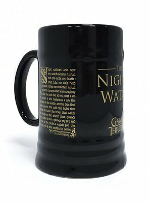 Game of Thrones Night's Watch Oath Ceramic Stein Mug MGS23835