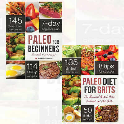 Paleo Diet for Brits and Paleo for Beginners 2 Books Collection Set Pack NEW UK