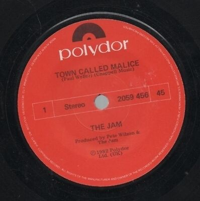 """THE JAM    Rare 1982 New Zealand Only 7"""" OOP Polydor Single """"Town Called Malice"""""""