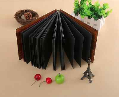 30 Pages REFILL Pack - 27 x 19cm 3 Holes Scrapbook DIY Album Black Kraft Paper