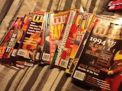 Job Lot Of Over 95  Pro Wrestling Illustrated Magazines From The 1990S