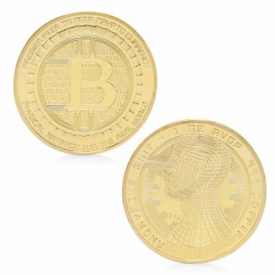 Golden Commemorative Coin BTC Art Collection For Souvenir Bitcoin Coin Gift