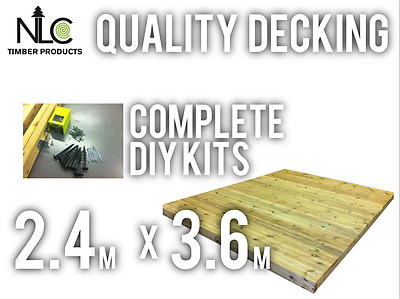 Quality Ground Decking Kit 2.4m x 3.6m FREE DELIVERY TO MANY AREAS see map