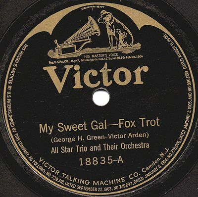 """78er Ragtime All Star Trio Orchestra """"My Sweet Gal"""""""