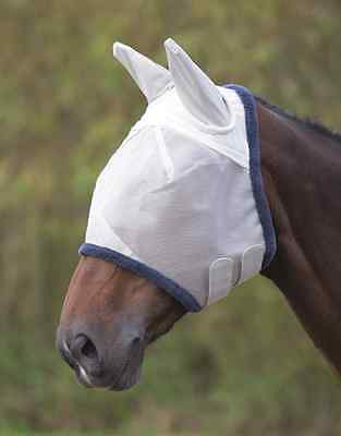 Shires Field Durable  Fly Mask With Ears  - Grey - 6668 - Cob