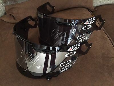 Signed 2017 Motogp Yamaha Maverick Vinales Genuine Arai Race Visor. Exact Proof.